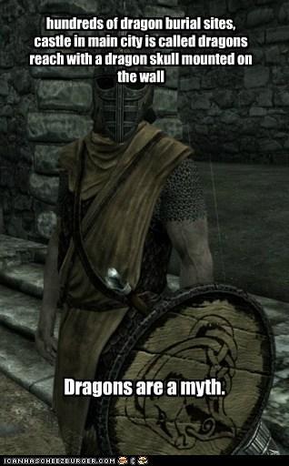 Burial,dragons,guard,myth,Skyrim,smarts,the elder scrolls,whiterun