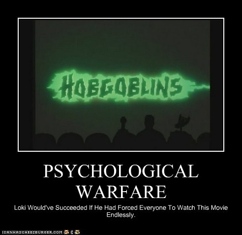 bad movie,crow,hobgoblins,loki,mike nelson,mst3k,Mystery Science,Mystery Science Theatre,Psychological Warfare,success,tom servo