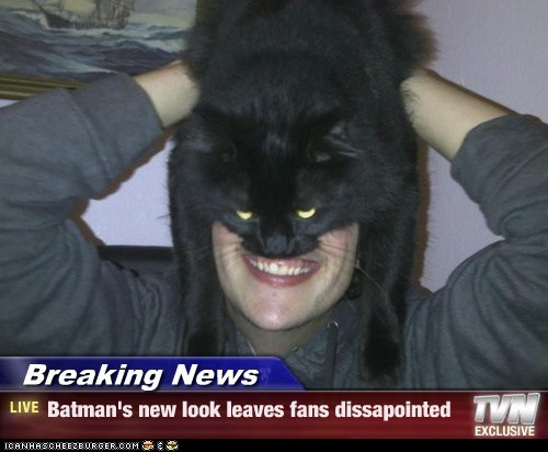 Breaking News - Batman's new look leaves fans dissapointed