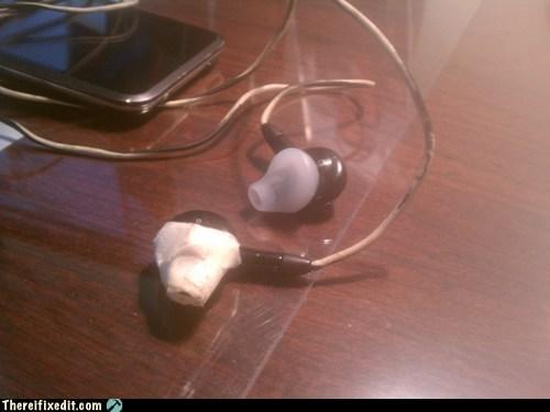 earbuds,headphones,masking tape,tape