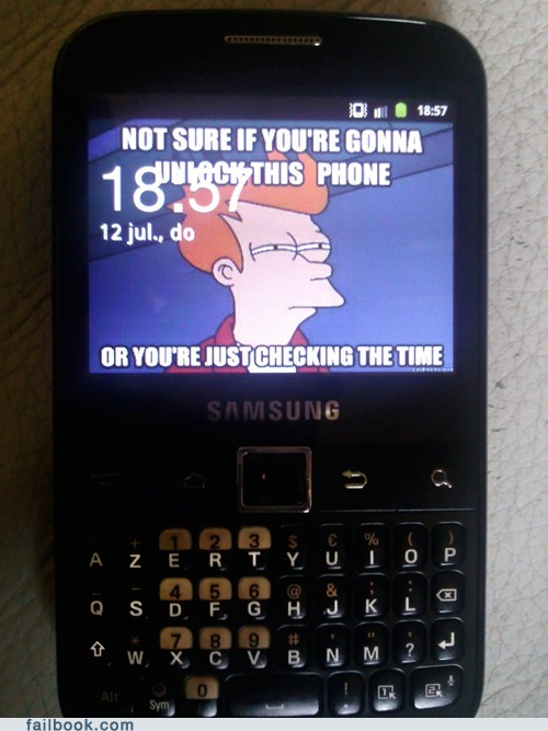 fry,not sure if,phone,time,unlock
