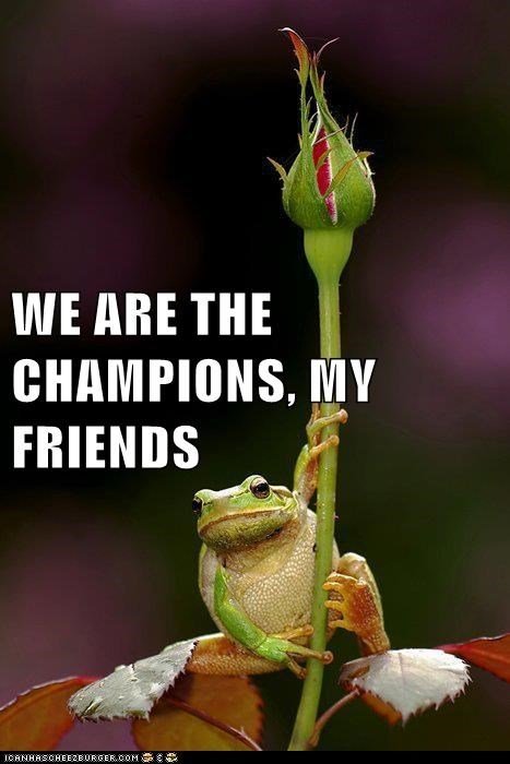 WE ARE THE CHAMPIONS, MY FRIENDS