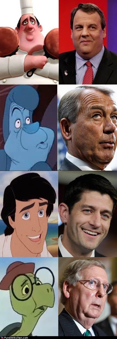 Chris Christie,democrats,disney,john boehner,paul ryan,political pictures,Republicans