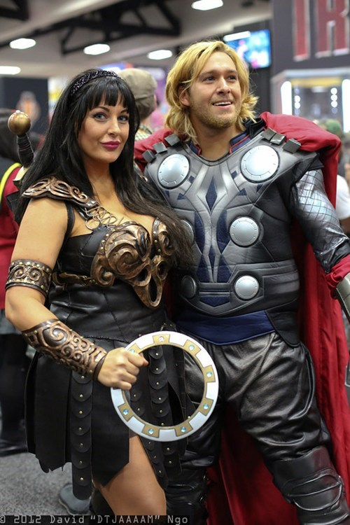 cosplay,SDCC,Thor,Xena