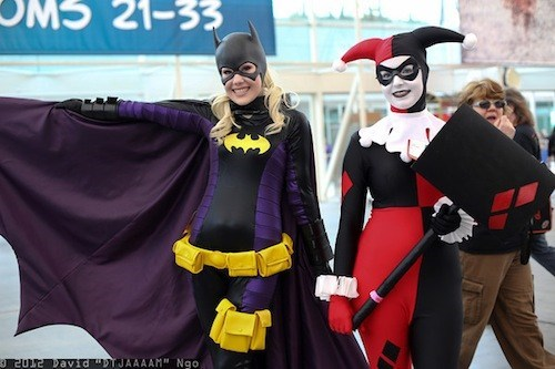 From SDCC: Batgirl & Harley