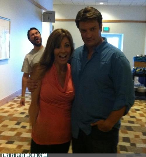 Wil Wheaton Photobombs the Master Nathan Fillion