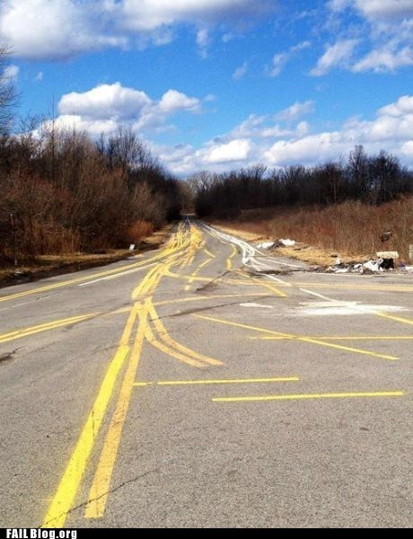 FAIL Nation: Road Lines FAIL