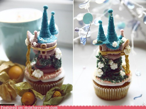Epicute: Tangled Tower Cupcakes