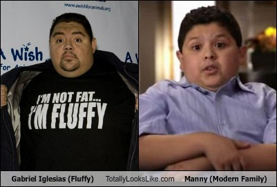 Gabriel Iglesias (Fluffy) Totally Looks Like Rico Rodriguez (Manny Modern Family)