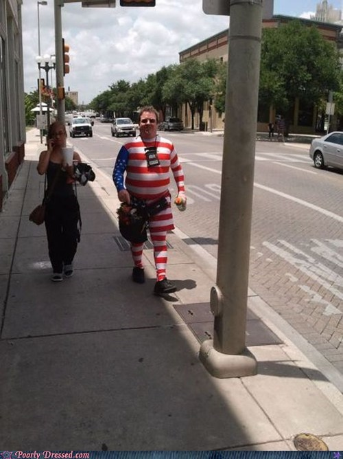 How Much Love For America? Full Body Suit Love.