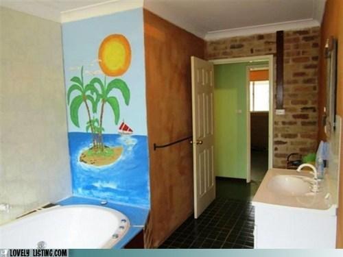 bathroom,best of the week,island,janky,mural,Tropical