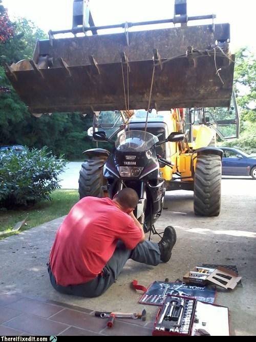 bulldozer,caterpillar,motorcycle,yamaha
