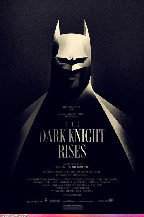 "Vintage Movie Poster For ""The Dark Knight Rises"""