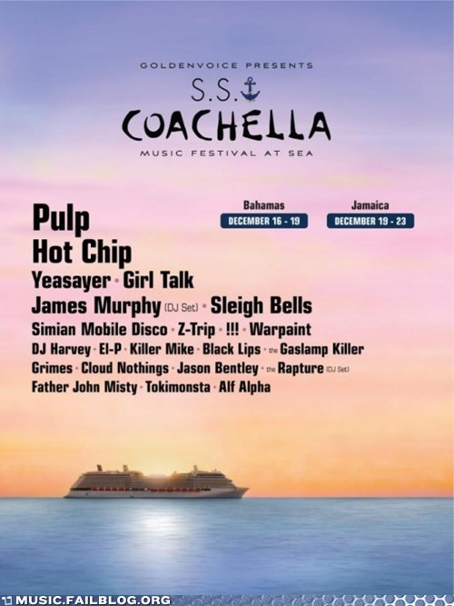Coachella Is Now a Boat