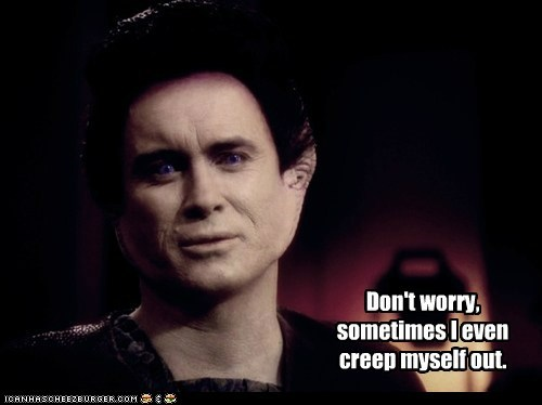 creepy,Deep Space Nine,dont worry,jeffrey combs,Star Trek,vorta,weyoun