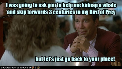 bird of prey,Captain Kirk,klingon,Shatnerday,Star Trek,the voyage home,whales,William Shatner