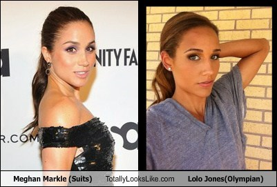 Meghan Markle (Suits) Totally Looks Like Lolo Jones (Olympian)