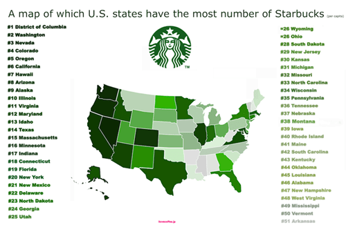 Which States Love Starbucks the Most?