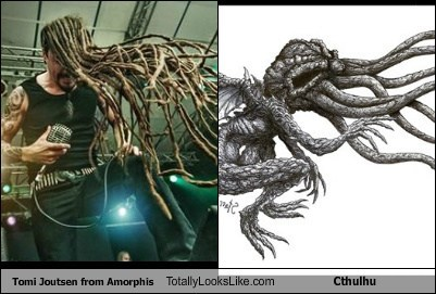 Tomi Joutsen from Amorphis Totally Looks Like Cthulhu