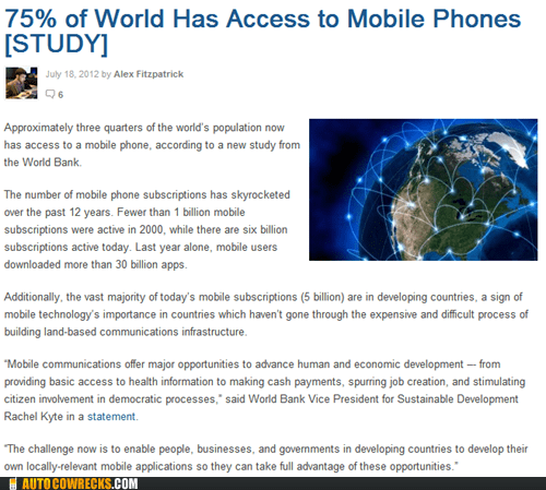access to mobile phones,How Do I Cell Phone,mashable,studies