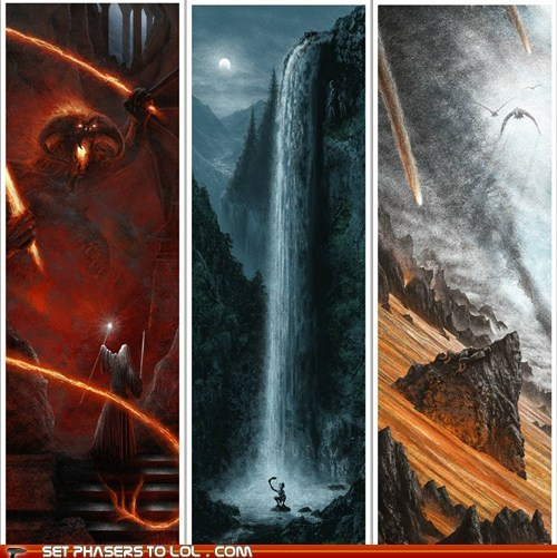 Hand-Drawn Lord of the Rings Posters