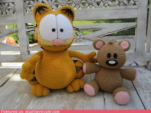 Amigurumi Garfield and Pookie