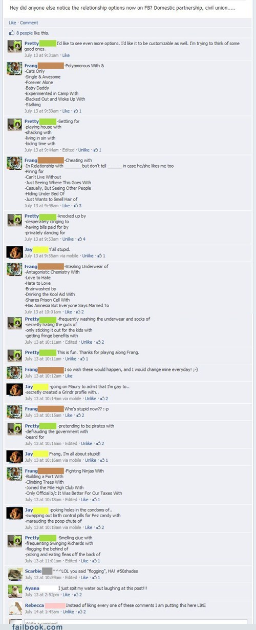 "Failbook: Variations of ""It's Complicated"""