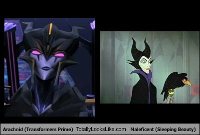 Arachnid (Transformers Prime) Totally Looks Like Maleficent (Sleeping Beauty)