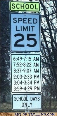 IRL,sign,speed limit,time