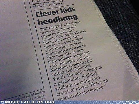 Headbanging Leads to Bangin' Brains