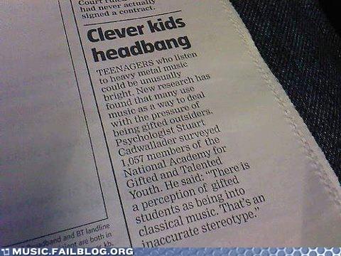 Music FAILS: Headbanging Leads to Bangin' Brains