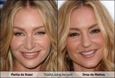 Portia de Rossi Totally Looks Like Drea de Matteo