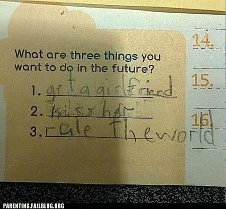 childrens-writing,future,girlfriend,rule the world