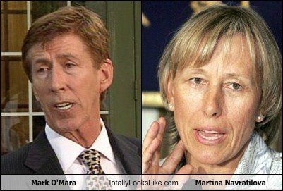 Mark O'Mara Totally Looks Like Martina Navratilova