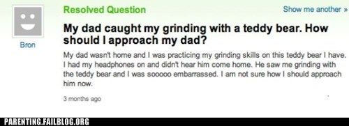 fatherdaughter,grinding,teddy bear,yahoo answers