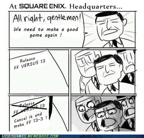 final fantasy,final fantasy versus 13,meme,square enix