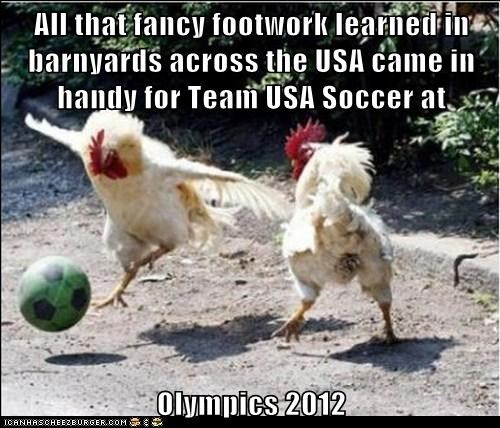 All that fancy footwork learned in barnyards across the USA came in handy for Team USA Soccer at  Olympics 2012