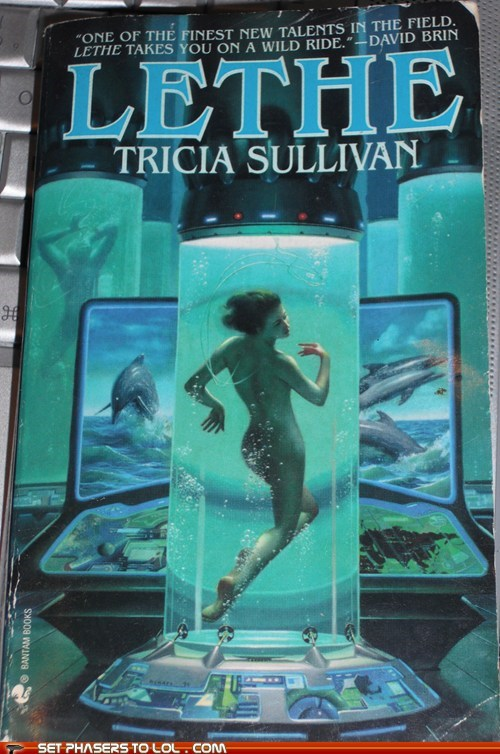 book covers,cover art,dolphins,experiment,science fiction,wtf