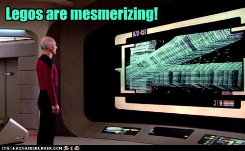 Captain Picard,legos,mesmerized,patrick stewart,Star Trek,step on a lego,the next generation,TNG