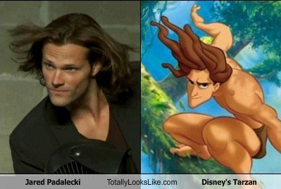 Jared Padalecki totally looks like Disney's Tarzan