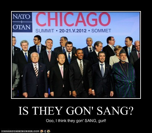 IS THEY GON' SANG?