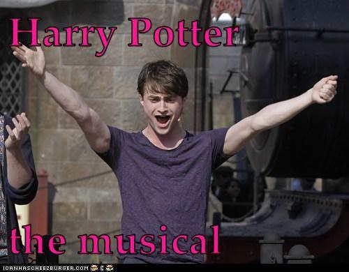 Daniel Radcliffe,Harry Potter,musical,singing