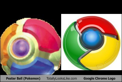 Pester Ball (Pokemon) Totally Looks Like Google Chrome Logo