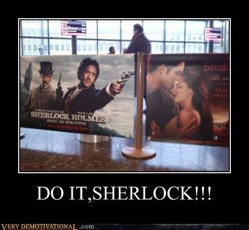breaking dawn,hilarious,Sherlock,shoot,twilight
