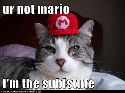 ur not mario  I'm the subistute