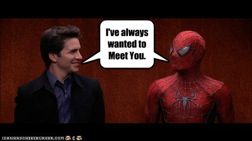 ditto,famous,hal sparks,peter parker,same time,Spider-Man