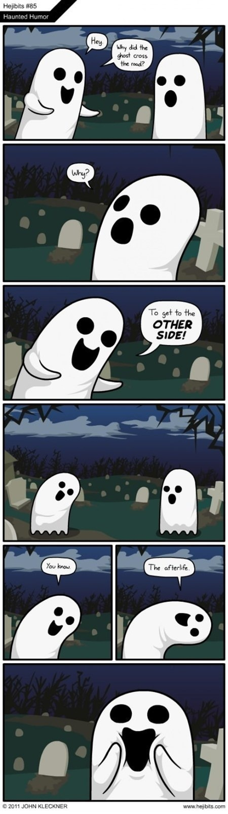 cross the road,ghosts,graveyard,jokes,Memes,the internets
