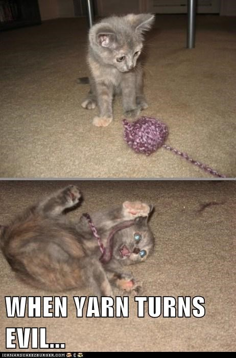 WHEN YARN TURNS EVIL...