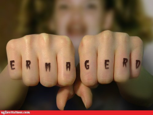Ugliest Tattoos: Ergliest Tertters!