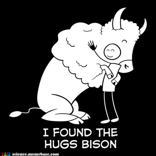 bison,higgs boson,hug,Memes